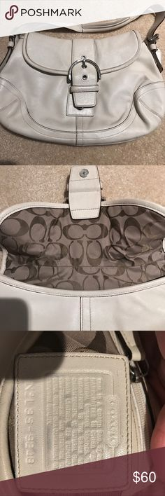 Authentic coach bag Beige leather authentic Coach bag. Good condition. Beige Coach Bags Shoulder Bags