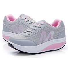 2016 Women Breathable Summer Female Sneakers Shoes Height Increasing Platform Shoes Wedges Single Toning Shoes