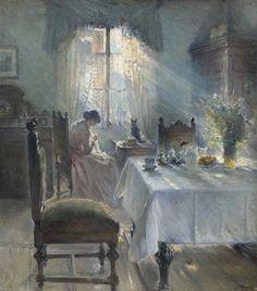 ◇ Artful Interiors ◇ paintings of beautiful rooms - Bertha Wegmann, 1891