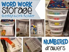 How to organize weekly phonics activities, organizing word work, working with words, phonics, spelling, classroom organization