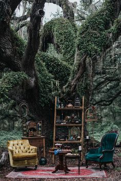 This Halloween Wedding Is A Haunting Good Time mystical forest wedding lounge - Boho Wedding Wedding Lounge, Dream Wedding, Boho Wedding, Wedding Table, Woodland Wedding, Wedding Ceremony, Ceremony Seating, Wedding Pins, Outdoor Ceremony