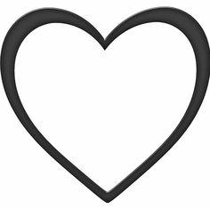 shapes clip art thick heart shape clip art vector clip art rh pinterest com love shape clip art free clipart heart shape
