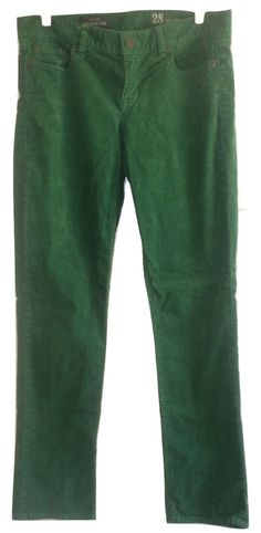 J. Crew Stretch Vintage Matchstick Corduroy Pants Heather Green Size 28 NWOT  #JCrew #Corduroys