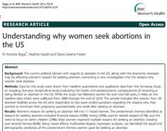 Comprehensive study on why women are aborting their babies.