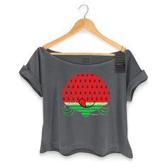 T-shirt Premium Feminina Magali 50 Anos Grande Melancia #Magali50Anos #TurmadaMônica #bandUPStore