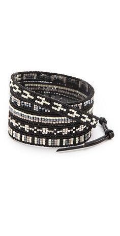 Chan Luu Dark Beaded Wrap Bracelet | SHOPBOP