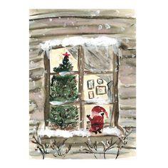 A night before Christmas postcard by NUNUCO® Before Christmas, Christmas Holiday, Holiday Decor, Ladder Decor, Advent Calendar, Greeting Cards, Night, Home Decor, Decoration Home