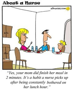 Habits you picked up from work. - About A Nurse - Nursing Cartoon Series ¸. Rn Humor, Medical Humor, Nurse Humor, Funny Humor, Nursing Tips, Nursing Memes, Funny Nursing, Nursing Board, Rn Nurse