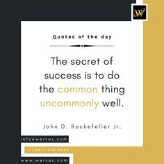 Quotes of the day! #quotes #postoftheday #wervas #motivationalquotes Virtual Assistant Services, Secret To Success, Motivationalquotes, Quote Of The Day, Leadership, Web Design, Inspiration, Finance, Design Web