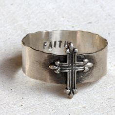 Cross ring by PraxisJewelry on Etsy Praxis Jewelry