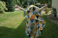 crazy mom quilts: hello sunshine Cute goofy shot of her son! Love it!( and the quilt, too!)
