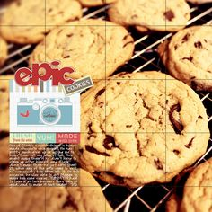 """""""EPIC Cookies"""" from the gallery at Real Life Scrapped The journaling talks about how much Clark LOVES homemade cookies, but has a hard time getting anyone to make some for him. **Credits: Wild Blueberry Ink-Blueberry Seed No 4 (Template); Karla Dudley-Stamp Press Photo Brushes; Karla Dudley-Worded Sup? Cut Files; Mye De Leon-Carefree Journal Cards; Shannon McNab-In The Kitchen Word Art.**Kits available at Pixels and Company."""