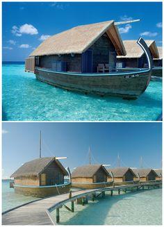 Boat Hotel, Cocoa Island In Maldives Islands.