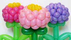 Цветок цинния из шаров / Zinnia flower of balloons (Subtitles)