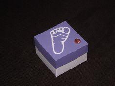 Baby footprint favour box