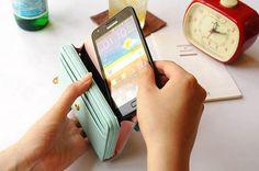 Strap Wallet Case Handbags for Samsung Galaxy S4/S3 iPhone 5/4 iPhone Clutch Wallet S3 Wallet Purse Wristlet