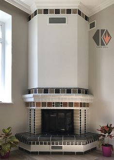 Corner Stone Fireplace, Fireplace Built Ins, Fireplace Remodel, Diy Fireplace, Fireplace Design, Blue Bedroom Decor, Living Room Decor, Cheap Fire Pit, Outdoor Kitchen Plans