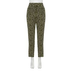 Theory Silk Printed Trousers.  Look slightly high wasted, but for this brand and 100%, at £34.99, worth a go!
