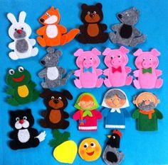 Фотография Felt Puppets, Felt Finger Puppets, Hand Puppets, Finger Puppet Patterns, Felt Fox, Baby Gift Box, Fabric Toys, Sock Animals, Felt Decorations