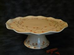 This would be great on a kitchen island or table with a few organic items to highlight it!  From Red Parrot Pottery on Etsy.com