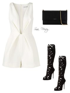 """""""Untitled #111"""" by sara-elizabeth-feesey on Polyvore featuring Finders Keepers, Giuseppe Zanotti and Lanvin"""