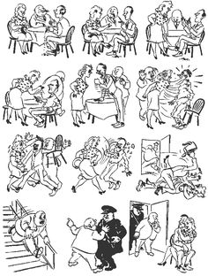 Family Matters. Vintage cartoons by the Danish artist Herluf Bidstrup.