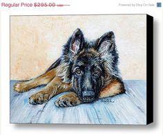 ON #SALE German Shepherd #Custom #Pet #Portrait