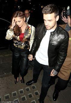 Night on the town:Cheryl Fernandez-Versini went hand-in-hand with her boyfriend Liam Payne as they arrived at London hotspot Sexy Fish on Tuesday evening