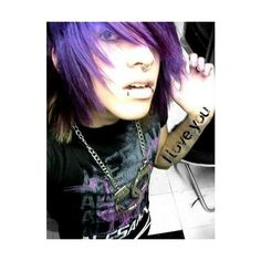EMO <3 ❤ liked on Polyvore featuring boys, people, hair, guys and pictures