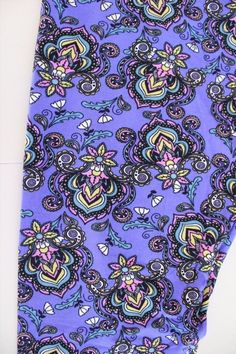 43.49$  Buy here - http://virbq.justgood.pw/vig/item.php?t=4bg4ir2605 - LULAROE Leggings TC Blue-Purple FLEUR DE LIS Floral Paisley Damask Mardi Gras