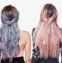 L'Oreal Colorista pastel wash out colors in blue and light pink