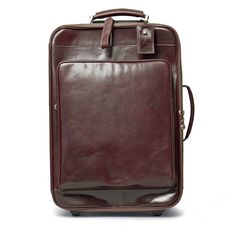 61833cedfa The Piazzale Wheeled Leather Trolley Case Italian Leather