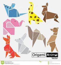 origami animal hd vector - Google Search