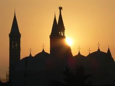 Sunshine in Padua over Basilica del Santo