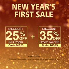 New Year's First Sale up to 35% off Orders over $79 FREE SHIPPING on all US orders at- www.abhair.com ENDS 1/25/2016 #abhair #hair #hairstyle #sale #discount