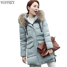 Cheap hooded parka, Buy Quality fashion parka directly from China parka fashion Suppliers: Winter Coat Women New Fashion Faux Fox Fur Collar 2016 Long Jacket Thick Cotton Coats Femme Hooded Parkas Plus Size Winter Jackets Women, Coats For Women, Clothes For Women, Parka Style, Long Parka, Womens Parka, Hooded Parka, Long Jackets, Cotton Jacket