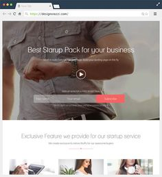 Startup #Landing Page Template With #Page Builder |