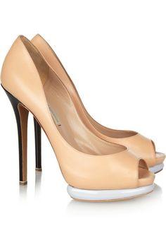 3669ff685 Nicholas Kirkwood Leather pumps Black Slip On Shoes