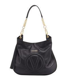 ce782959e05 Penelope Dollaro Leather Hobo Bag, Black Hobo Bag, Neiman Marcus, Wallets,  Mario