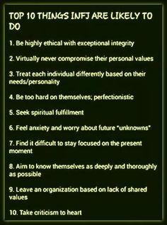 INFJ values