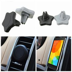 F, Car Magnetic Air Vent Mount Holder Stand For Mobile Cell Phone iPhone GPS
