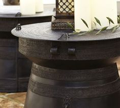 Frog Drum Side Table