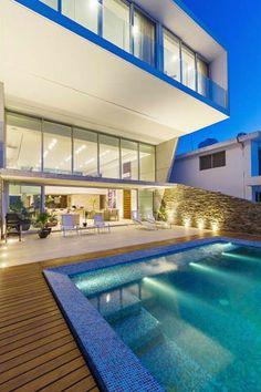 Casa JLM: Albercas de estilo minimalista por Enrique Cabrera Arquitecto