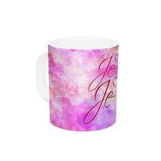 Je T'aime II by Ebi Emporium 11 oz. Abstract Ceramic Coffee Mug