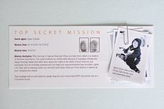 A Top Secret Spy party- how fun!