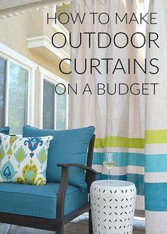 Merveilleux Drop Cloth Porch Curtains | DIY Ideas | Pinterest | Porch Curtains, Porch  And Organizing