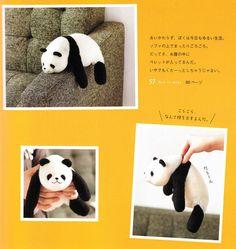 Pandas Wool Needle Felting Craft Ebook / PDF by KawaiiPattern