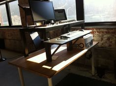 Build a DIY Wide Adjustable Height IKEA Standing Desk on the