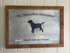 Labrador Retriever Sign  It's Dinnertime by TailwaggersBay on Etsy