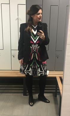 Print dress and blazer